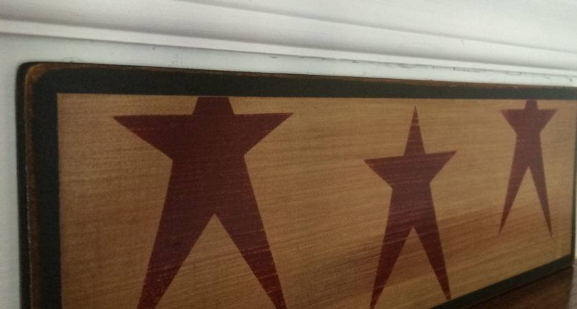 Rustic Home Decor Primitive Star Stencil Country