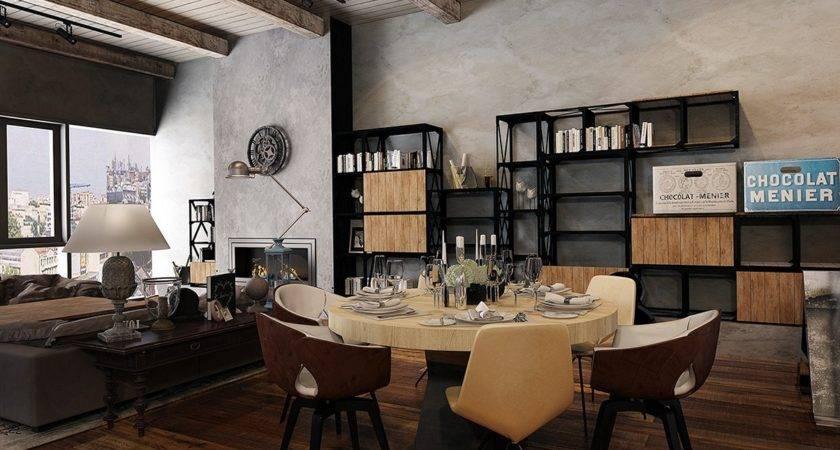 Rustic Industrial Interior Design Ideas
