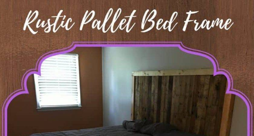 Rustic King Pallet Bed Frame Pallets