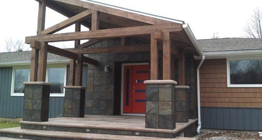 Rustic Modern Porch Addition Exterior Remodel