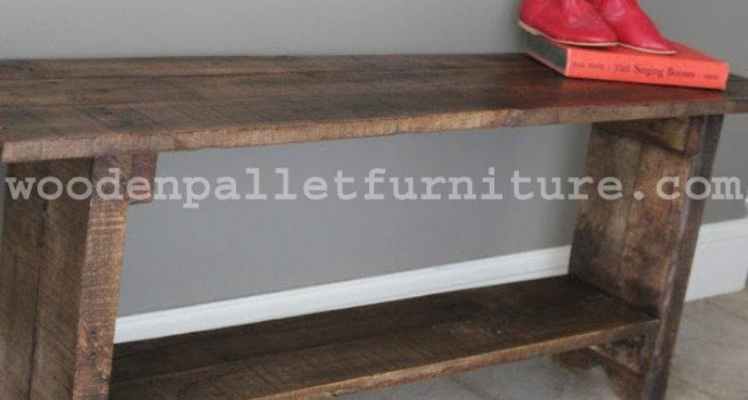 Rustic Pallet Wood Bench Instructions Wooden