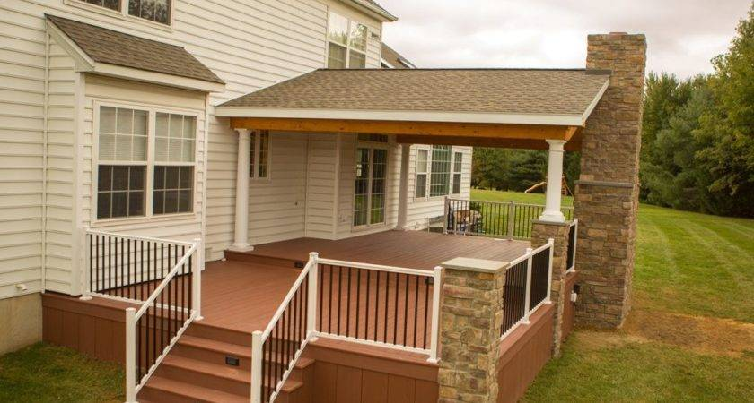 Rustic Porch Project Garnet Valley Stump Decks