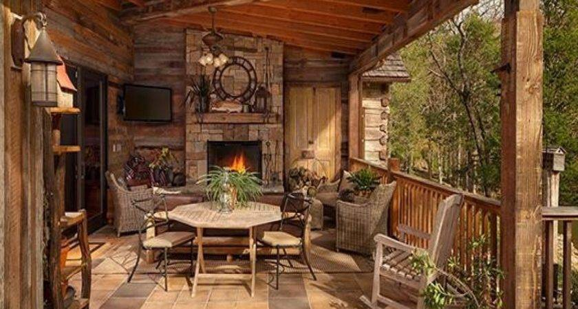 Rustic Porches Log Cabin Wrap Around Porch