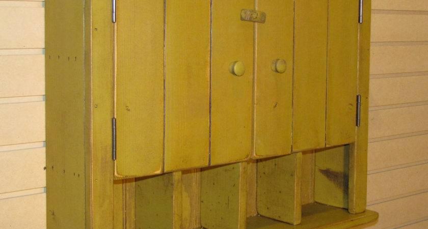 Rustic Primitive Cottage Wall Cabinet Color Choice