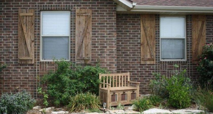Rustic Shutters Historical Elegance House Exterior Ideas