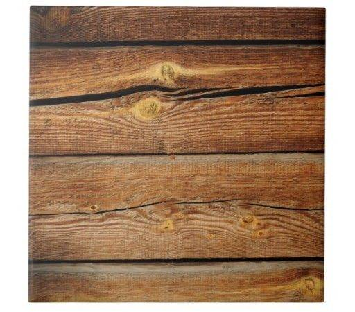 Rustic Wood Grain Boards Design Country Gifts Tile Zazzle