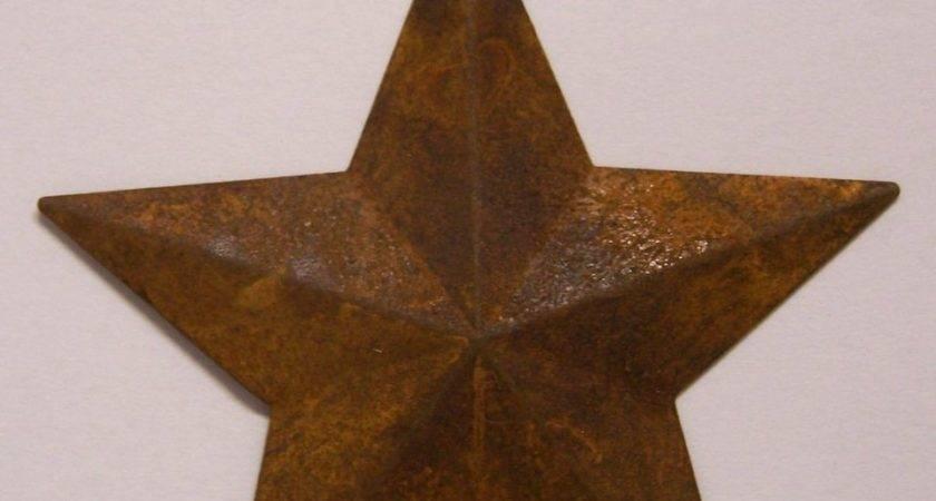 Rusty Tin Stars Hole Primitive Craft