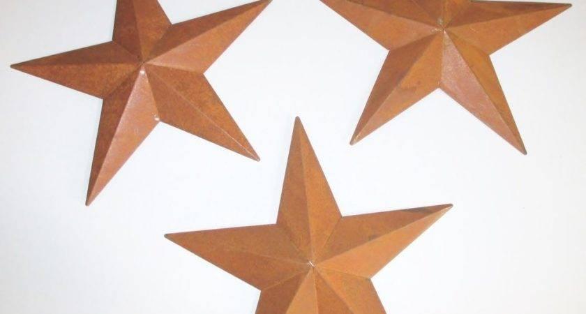 Rusty Tin Stars Inch Home Decor Primitive