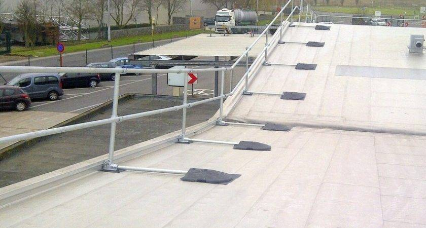 Safety Railing Sloped Rooftop Fall Protection Blog