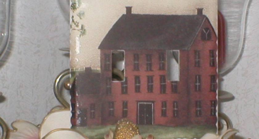 Saltbox Primitive Red House Decor Mid Busymomsoutlets
