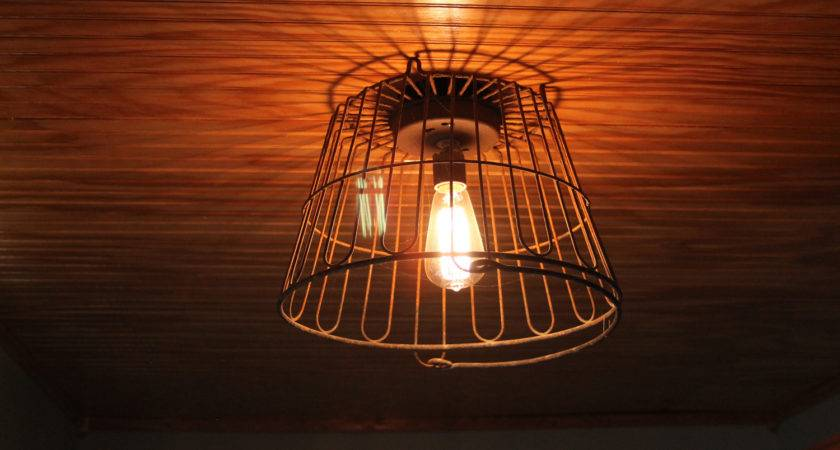 Salvage Hunt Egg Wire Basket Light Fixture