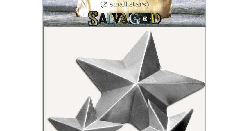 Salvaged Stamped Metal Small Stars Bci Crafts