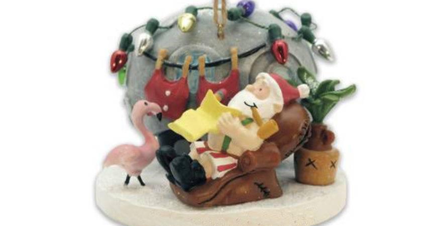 Santa Airstream Camper Trailer Park Christmas Ornament Ebay