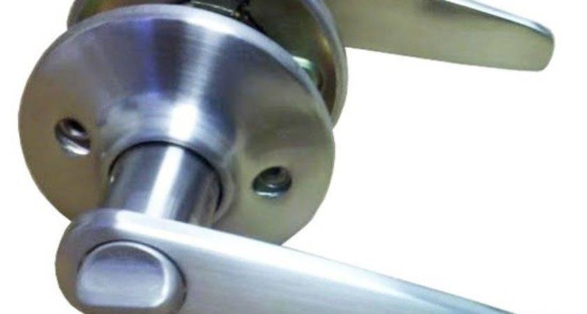 Satin Nickel Lever Privacy Door Knob Mobile Home