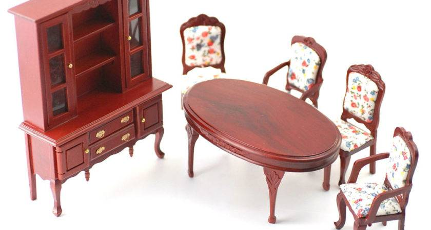 Scale Dolls House Furniture Dining Room Set
