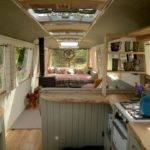 School Bus Conversion Renovated Interior