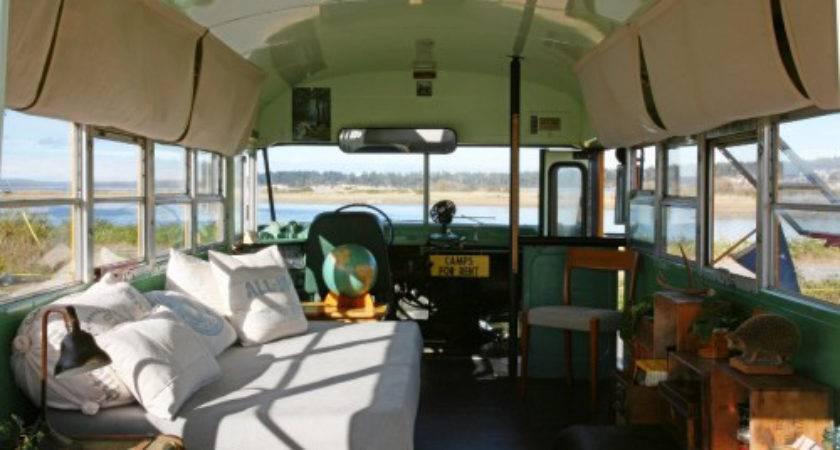 School Bus Home Interior Sunday Lovers