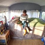 School Bus Living Cozy Confines Square Feet