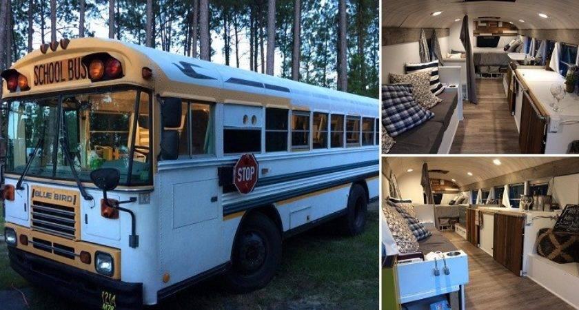School Bus Transformed Into Amazing Home