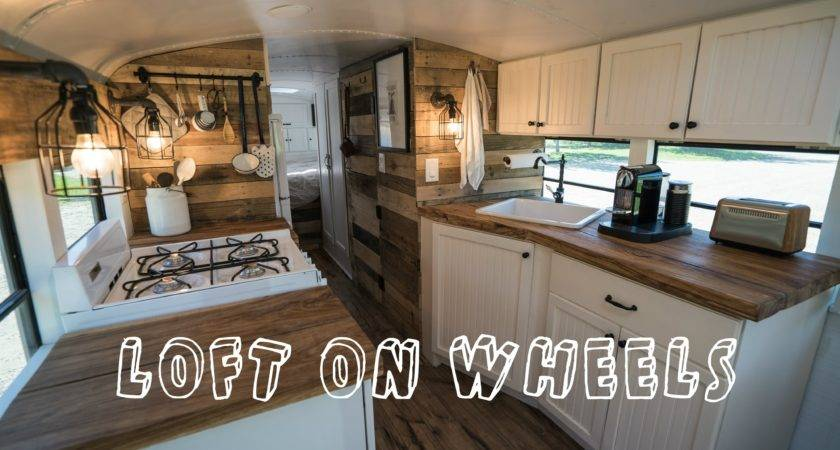 School Bus Turned Into Loft Wheels Tiny House Youtube