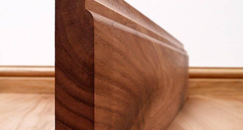 Scotia Solid Black Walnut Skirting Board