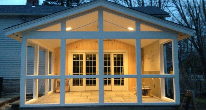 Screen Porch Addition House