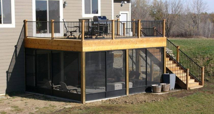 Screen Porch Deck Northfield Traditional
