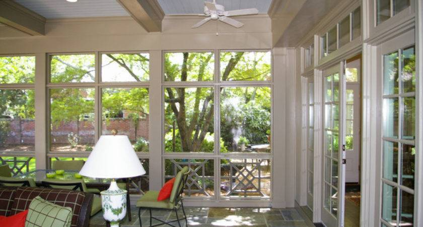 Screen Porch Detached Garage Addition Traditional