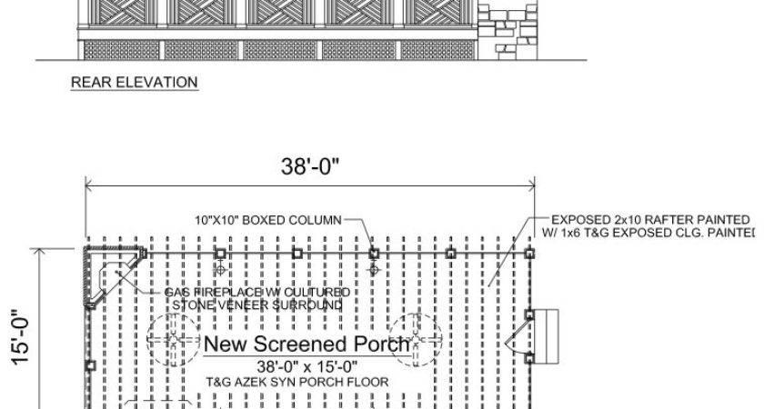 Screen Porch Drawing Joy Studio Design Best