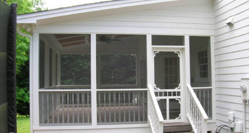 Screened Front Porch Existing Property Design