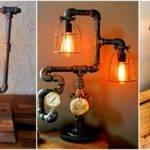 Sculptural Industrial Diy Pipe Lamp Design Ideas Able
