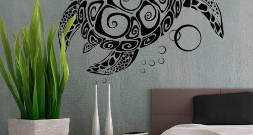 Sea Turtle Uber Decals Wall Decal Vinyl Decor Art