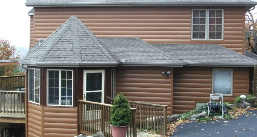 Seamless Steel Log Home Siding