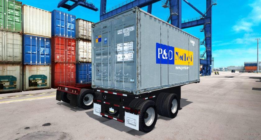 Semi Trailer Container American Truck Simulator
