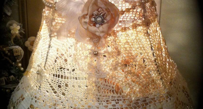 Shabby Chic Crochet Lampshade Doily Lamp Shade Gorgeous
