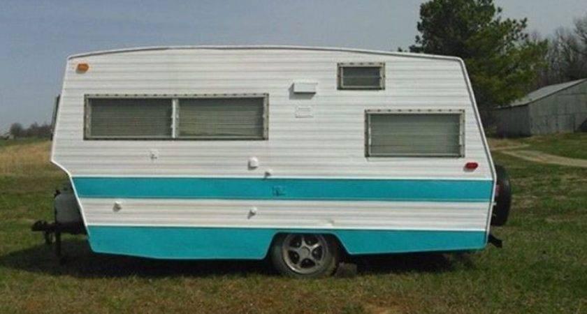 Shasta Pull Behind Bumper Camper Vintage Travel