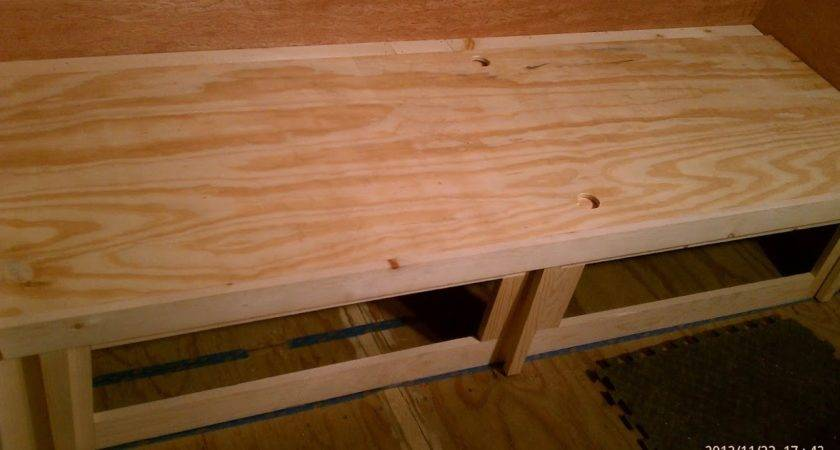 Shasta Trailer Project Gaucho Bed Bench