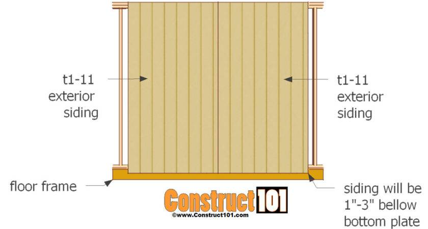 Shed Door Plans Step Construct