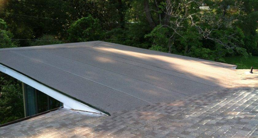 Shingle Flat Roofs Brown Metal Roofing