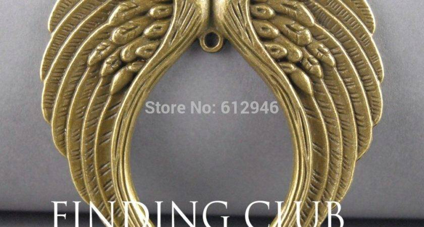 Shipping Colors Angel Wing Connector Pendant