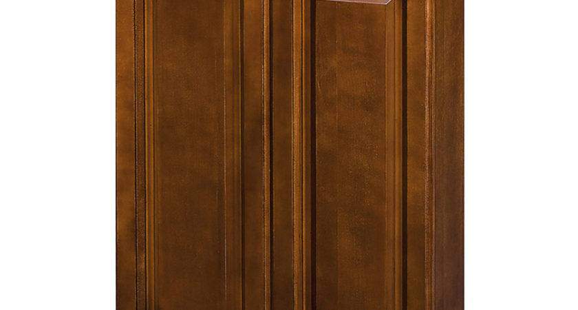 Shop Allen Roth Caladium Cherry Wall Cabinet Common