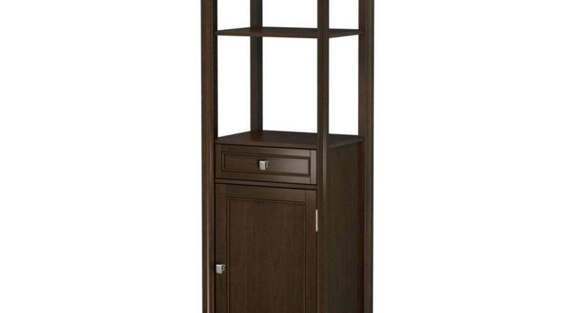 Shop Allen Roth Caterton Java Linen Cabinet Common