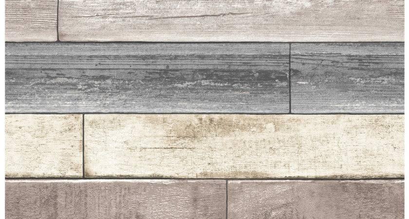 Shop Brewster Wallcovering Peel Stick Beige Vinyl Wood