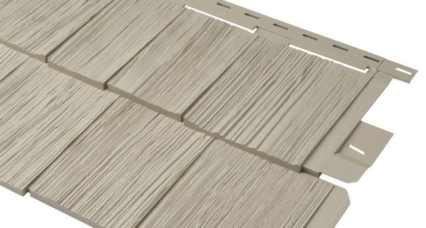 Shop Durabuilt Vinyl Siding Panel Shake Woodgrain Clay