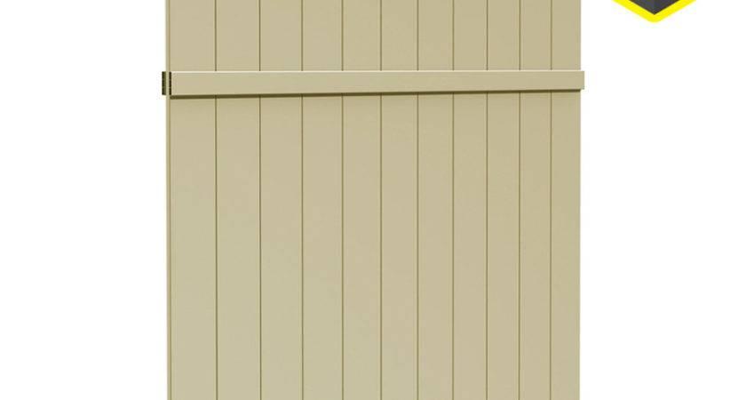 Shop Gatehouse Arborley Sand Flat Top Privacy Vinyl Fence
