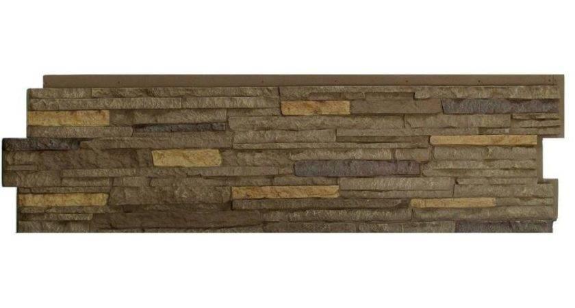 Shop Nextstone Stacked Stone Walnut Brown Faux