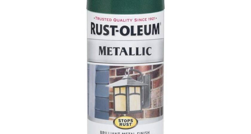 Shop Rust Oleum Metallic Stops Racing Green