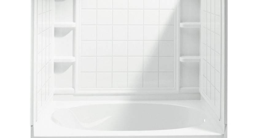 Shop Sterling Ensemble White Piece Alcove Shower Kit