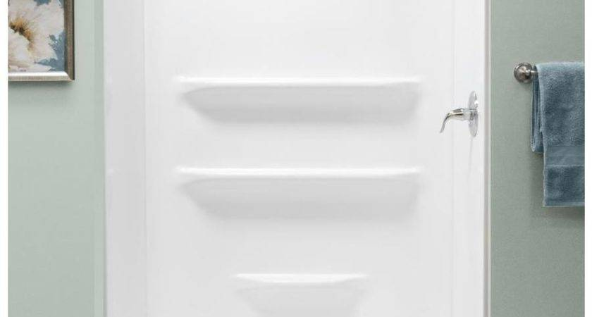 Shop Style Selections White Acrylic Shower Base Common