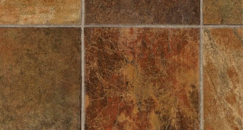 Shop Tarkett Dark Rust Tile Low Gloss Finish Sheet